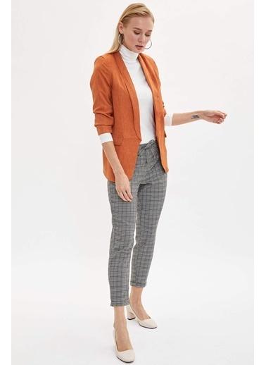 DeFacto Slim Fit Blazer Ceket Oranj